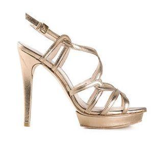 Pelle Moda gold platform sandals
